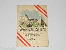 Wanderkarte Schladming 127, provisorische Ausgabe, Landkarte, Österreich, 1949