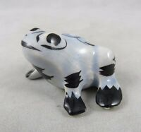 Vintage Tonala Mexican Art Pottery - Frog Toad Figurine - Grand Canyon Caverns