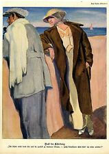Paul Rieth Nach der Scheidung / Erich Wilke Der Großvater Histor. Kunstdruck1915
