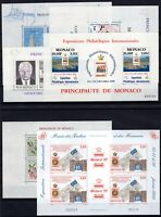 L136661/ MONACO – MINI-SHEETS / LOT 1985 – 2000 MINT MNH CV 81 $
