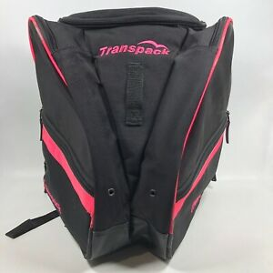 🎿 TRANSPACK Ski Snowboard Boot & Helmet Backpack Carry All Bag Pink Black EUC