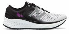 New Balance De Mujer Zapatos De Espuma Fresco 1080v9 Blanco con Negro y Púrpura
