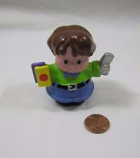 Fisher Price Little People FATHER DAD CELL PHONE Brown Hair Man Rare!