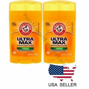 2 pc Arm & Hammer Ultra Max Deodorant, 1 oz.