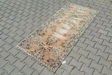 Turkish 3x6,Vintage Rug,Oushak,anatolian,ORANGE,Carpet,Bohemian,handmade,wool