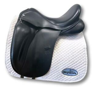 HOLD: Used Custom Saddlery Signature Steffen's Advantage M5 -17.5 Saddle
