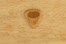 Olive wood Wooden Guitar Pick Handmade with Grip Engraving