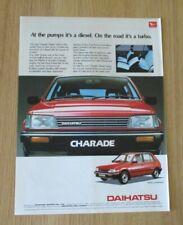 Daihatsu Charade 1985 Advert Classic Cars of the 80's