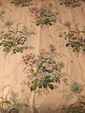 Pretty Floral Cream Colefax & Fowler Linen Fabric Curtain Interlined