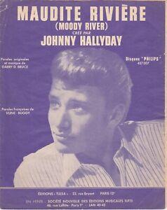 """Partition Johnny Hallyday """"Maudite rivière"""" - édition Tulsa - 1965"""