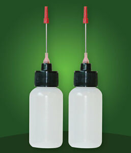 2-1 OZ bottles with stainless needle tip for Any Clock/Machinery Oil