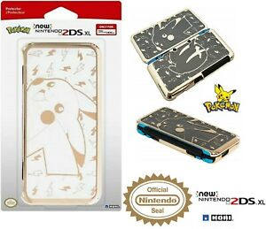 HORI Official New Nintendo 2DS XL Pikachu Gold Premium Protector Case