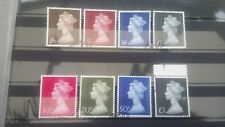 Gb stamps large format high value definitive machin pre and decimal sets