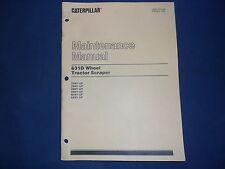 CAT CATERPILLAR 631D WHEEL TRACTOR SCRAPER MAINTENANCE BOOK MANUAL