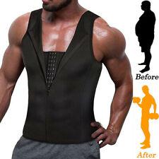 Men's Neoprene Sauna Thermo Sweat Body Shaper Waist Trainer Burn Fat Vest Tank