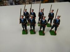 Toy Soldiers Sailors Marching  x 8 figures