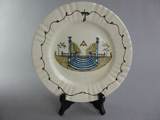 TILE PLATE DISH MASONIC ONLY FOR DECORATION FREEMASONRY ASSIETTE FRANC MACON