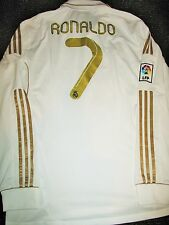 Authentic Ronaldo Real Madrid Jersey 2011 2012 Gold Shirt Camiseta Trikot XL
