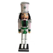 Christmas Nutcracker Figure Soldier Sparkling White Sequin Jacket Hat N1516-A