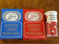2 Decks Playing Cards+1 Pair Dice(Matching Number) Paris Casino Las Vegas