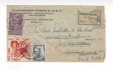 1939 Mexico to U.S., Registered Airmail Special Delivery, Mixed Franking