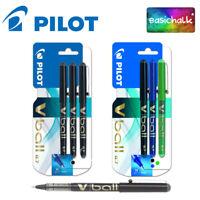 3 x Pilot V Ball 07 Liquid Ink Rollerball Pens 0.7 Tip Choice of Colours
