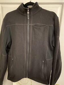 Kathmandu 100% Merino Wool Jacket Small Black Merino 300+ Zip Pockets Collar