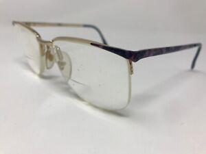 JG Hook Amanda Eyeglasses Vintage Flex Pads Italy Purple Marble Y138