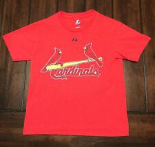 MLB Baseball St. Louis Cardinals Albert Pujols Majestic Shirt Kids Small