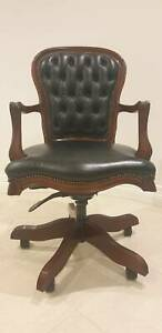 Mahogany leather desk Chair