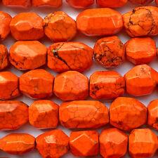 Dyed Orange Magnesite 21mm Nugget Semi Precious Stone Beads Q12 Beads per Pkg