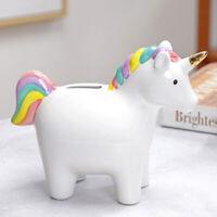 1Pc Cartoon Unicorn Saving Pot Ceramic Piggy Bank Creative Money Pot Home Decor