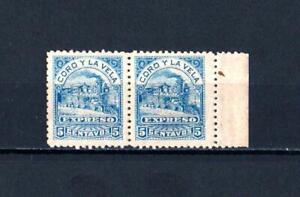 Venezuela, rare local post Coro-La Vela 1867, unused pair, VF, no gum as issued.