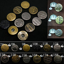 50x Jeansknöpfe Hose Knopf Buttons Knöpfe Druckknöpfe Tasten nähfrei