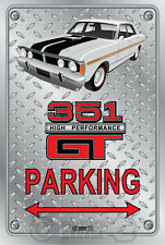 Parking Sign Metal - Ford XY GT 351 - Ultra White