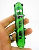 Funny Pickle Rick Glass Pipe glass Bong Smoking Pipe glass bowl hookah