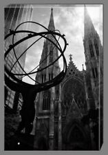 Atlas New York - Canvas Print Art Painting Home Decor Wall Picture Framed