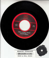 "CHUCK BERRY  Rock & Roll Music & Memphis Tennessee 7"" 45 rpm vinyl record NEW"