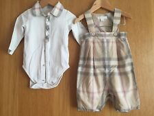 Burberry Shorts/ Shirt Romper Bodysuit Set 9m