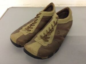 Mens Diesel Casual Shoes / Trainers Used / Bargain Size 11 Khaki And Brown