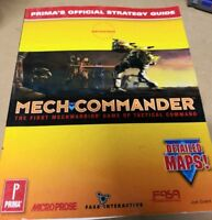 Mech Commander PC Game Windows Prima Official Strategy Guide Freeshipping