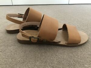 SIREN Tan Brown Leather Sandals, Size 5, Worn Once