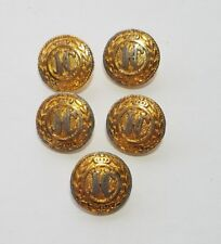 JHC CROWN BUTTONS JH Collectibles 6 metal buttons King Queen blazer replacements