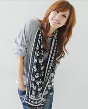 fashion Women's skull Faux Silk scarf