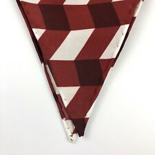 """New 100% Silk Diamond Shaped Red Chevron Scarf *Made in Italy* 38"""" X 17"""""""