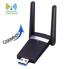 Adaptador Usb Wifi 1200 Mbps, USB 3.0 red inalámbrica WiFi Dongle con antena 2dBi