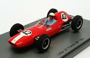 Spark 1/43 Scale S4822 - F1 Lotus 24 French GP 1963 - #42 Phil Hill