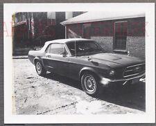 Vintage Car Polaroid Photo 1967 Ford Mustang Convertible 760713