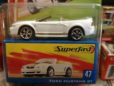 Matchbox 2004 Superfast 35th Anniversary Ford Mustang Gt #47 White 1/15,000