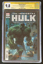 Al Ewing sketch & Quote Clayton Crain CGC 9.8 SS Immortal Hulk #1 Marvel Bennett